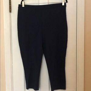 Chico's Fab Slimming navy Leggings Size 2 Like NEW